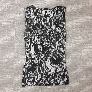 Halogen black and white tank top size xs
